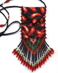Chili Peppers Amulet Bag Pattern & Kit