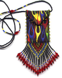 Neon Flame Amulet Bag Pattern & Kit