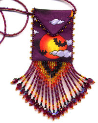 Halloween Bats Amulet Bag Pattern & Kit