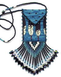 Indian Feather Amulet Bag Pattern & Kit