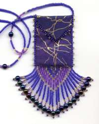 Purple Lightening Amulet Bag Pattern & Kit