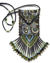 Olive Disco Amulet Bag Pattern & Kit