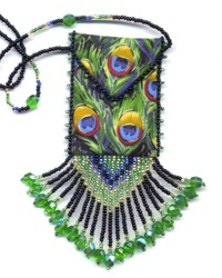Peacock Feather Cloth Amulet Bag Pattern & Kit