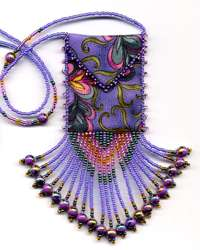 Purple Paisley Amulet Bag Pattern & Kit