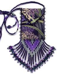 Purple Wheat Amulet Bag Pattern & Kit