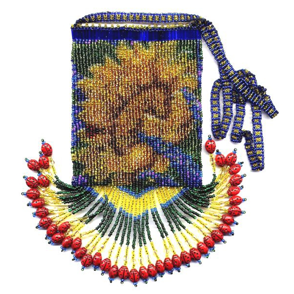 Sunflower Fringe Bag with Strap