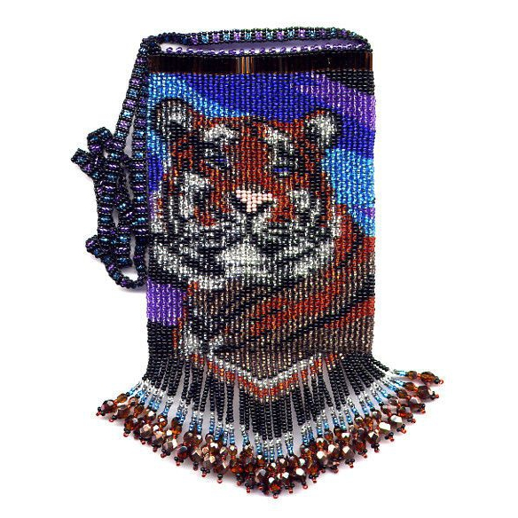 Happy Tiger Bag with fringe and strap