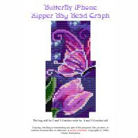 Butterfly iphone Zipper Bag