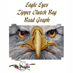 Eagle Eyes Zipper Clutch Bag