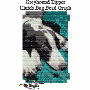 Greyhound Zipper Clutch Bag