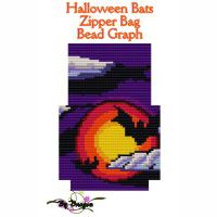 Halloween Bags Zipper Bag Bead Graph, Instructions and Kit