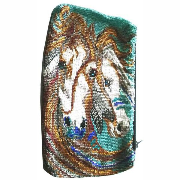 Indian Ponies Clutch Bag