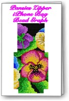 Pansies Iphone Zipper Bag