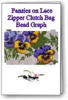 Pansies on Lace Clutch Bag