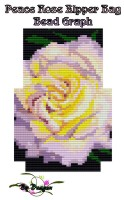 Peace Rose Zipper Bag Bead Graph, Instructions and Kit