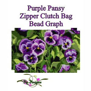 Purple Pansy Clutch Bag