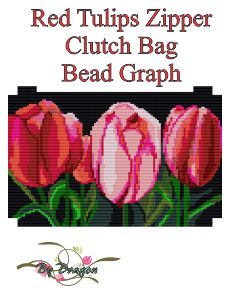 Red Tulips Clutch Bag