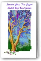 Stained Glass Tree Clutch