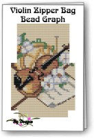 Violin Zipper Bag