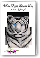White Tiger Zipper Bag