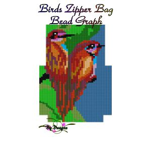 Birds Zipper Bag
