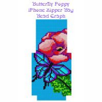 Butterfly Poppy iphone Zipper Bag