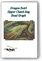Dragon Swirl Clutch Bag
