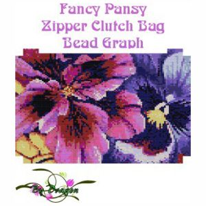 Fancy Pansy Clutch Bag
