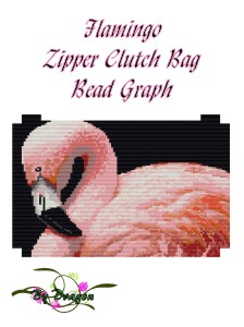 Flamingo Zipper Clutch Bag