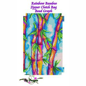 Rainbow Bamboo Clutch Bag