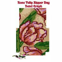 Rose Tulip Zipper Bag