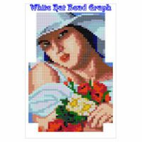 White Hat Lady Zipper Bag