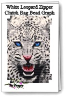 White Leopard Clutch