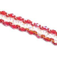 Crisscross Red Bracelet