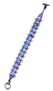 Centipede Purple Blue Bracelet