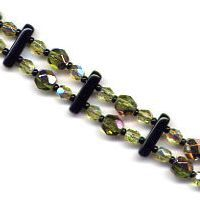 Olive Bar Bracelet Beading Pattern and Kit