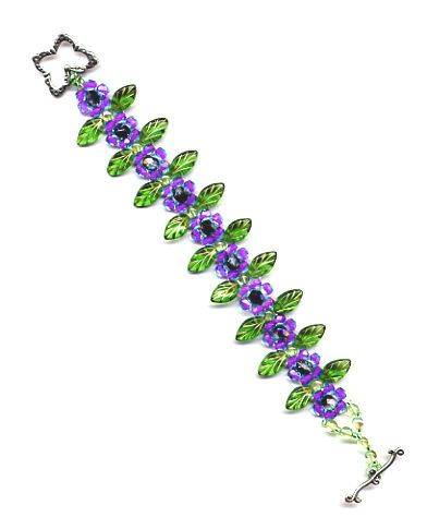 Purple Daisy Bracelet