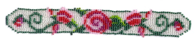 White Rose Bud Weave Bracelet Pattern and Kit