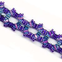 Square Purple Blue Bracelet