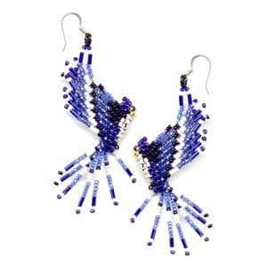 3D Blue Jay Earrings
