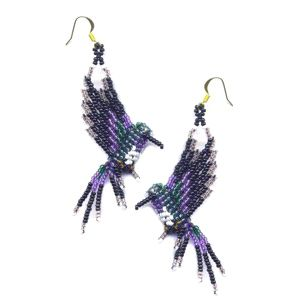 3D Costa's Hummingbird Earrings