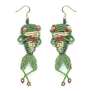 3D Frog Earrings