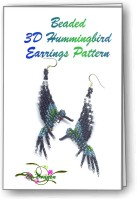 3D Hummingbird Earrings