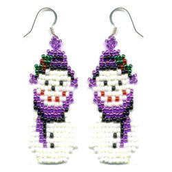 Little Snowman Weave Earring