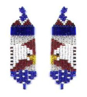 American Eagle Fringe Earring Pattern and Kit