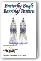 Butterfly Bugle Earrings