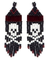 Skull Fringe Earring Pattern and Kit