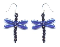 Dragonfly Dangle Earring Blue