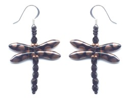 Dragonfly Dangle Earring Copper