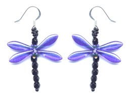 Dragonfly Dangle Earring Purple